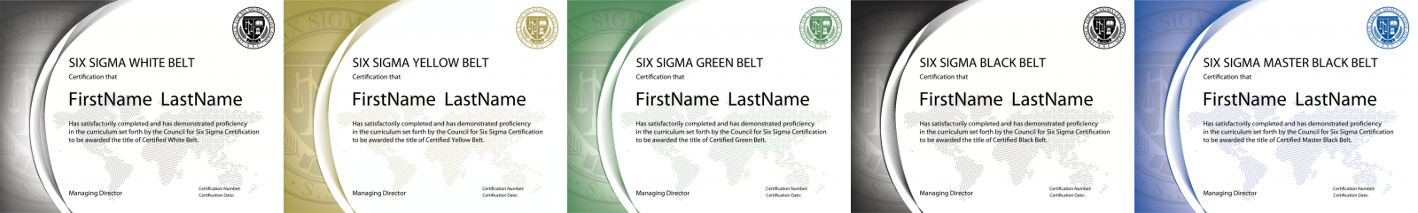 Six Sigma Belts Six Sigma Levels Six Sigma Certification Levels