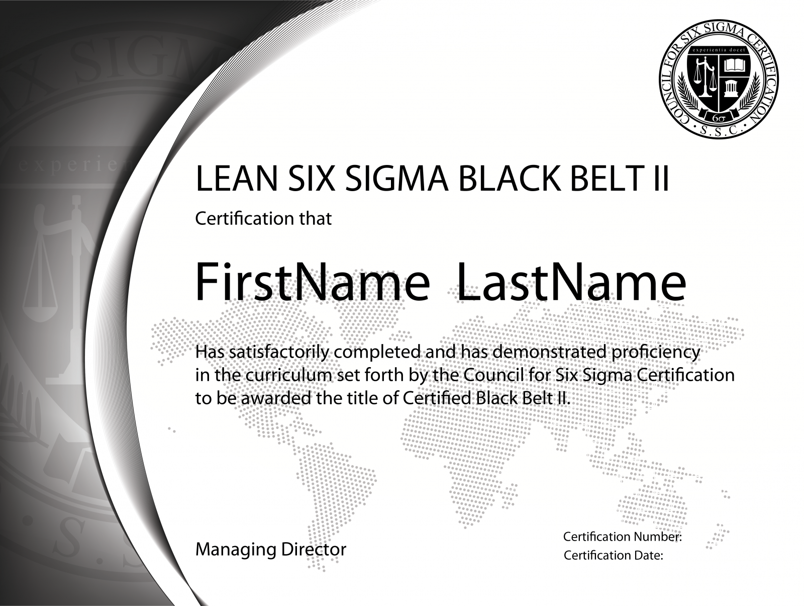 Lean Six Sigma Black Belt Level Ii Certification The Council For