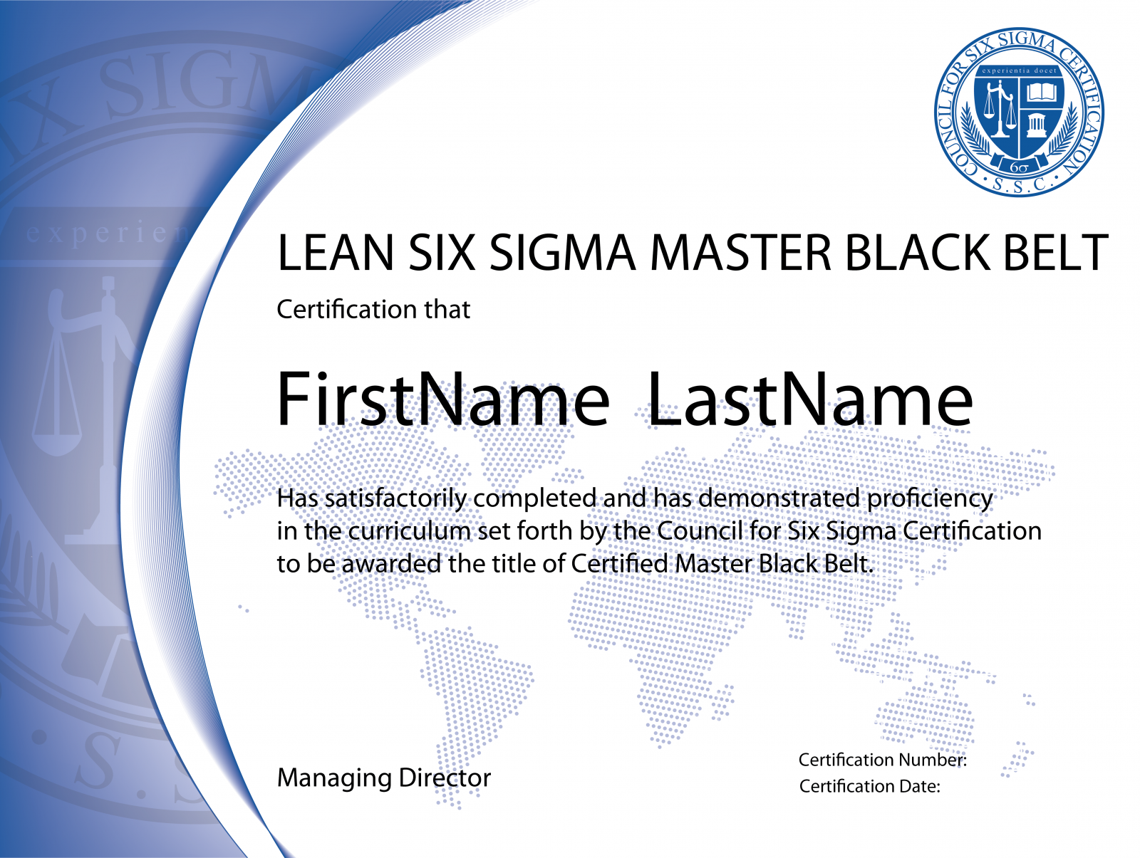Lean Six Sigma Master Black Belt Certification The Council For Six