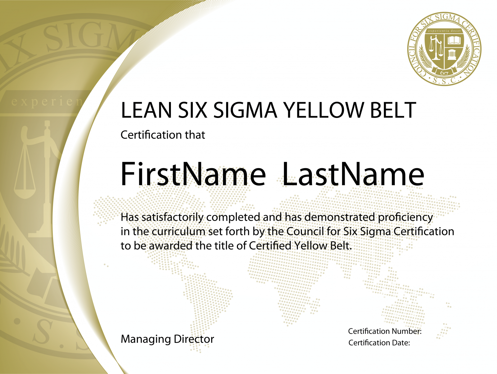 Lean Six Sigma Yellow Belt Certification The Council For Six Sigma