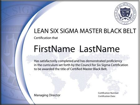 Lean Six Sigma Master Black Belt Certification Self Paced
