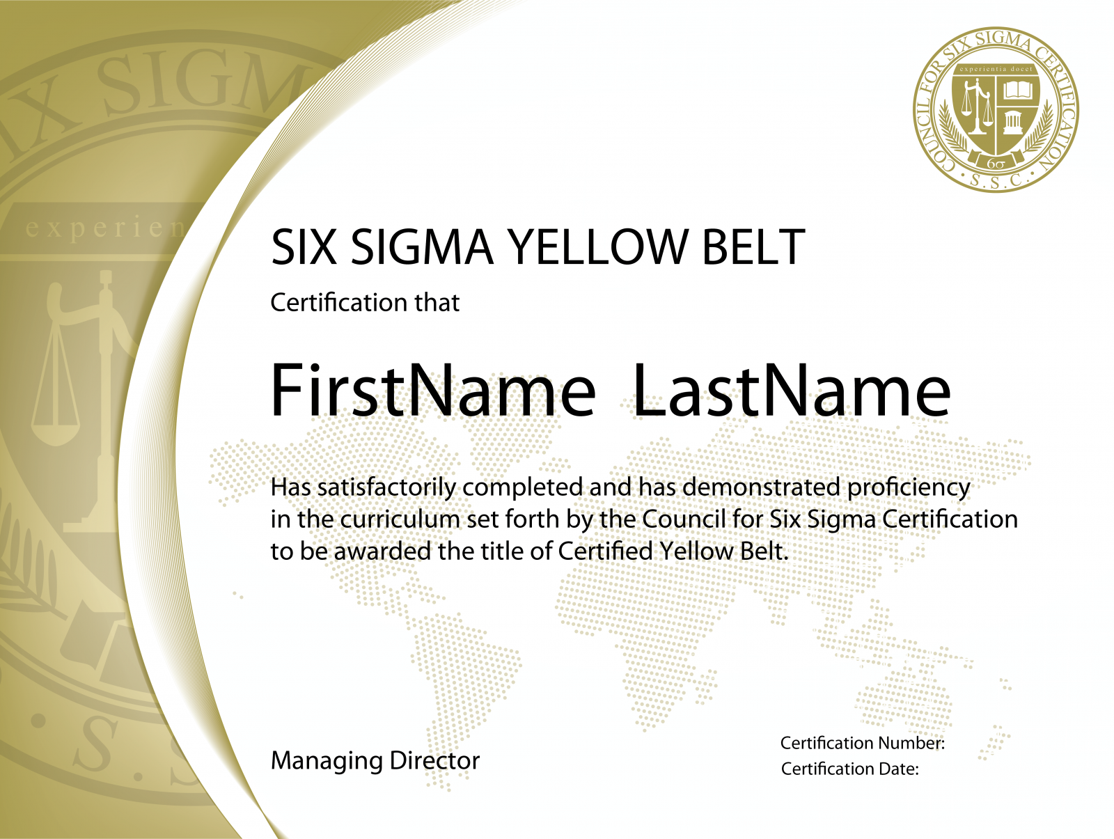 Six Sigma Yellow Belt Certification The Council For Six Sigma