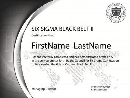 Six Sigma Black Belt Certification II