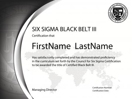 Six Sigma Black Belt Certification III