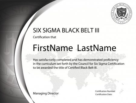 Six Sigma Black Belt Certification III