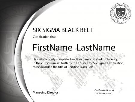Six Sigma Black Belt Certification