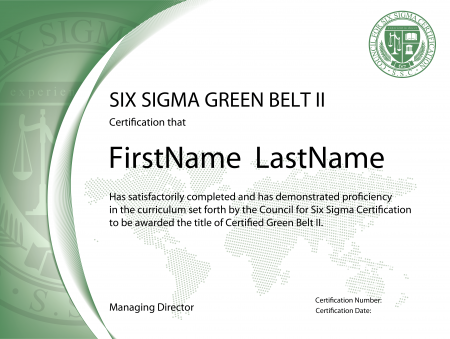 Six Sigma Green Belt Certification II