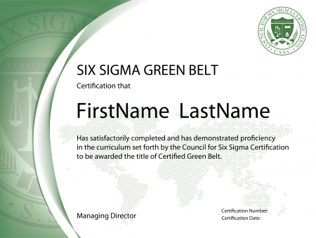 Green belt six sigma green belt green belt certification for Green belt certificate template