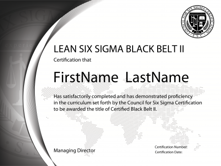 Lean training lean six sigma black belt certification for Six sigma black belt certificate template