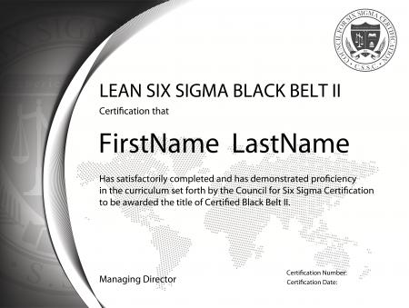 Lean Six Sigma Black Belt Certification II