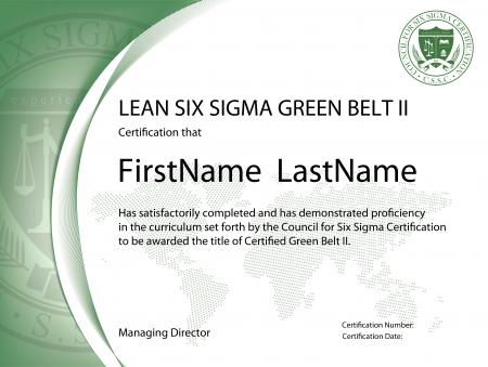 Lean Six Sigma Green Belt Certification II