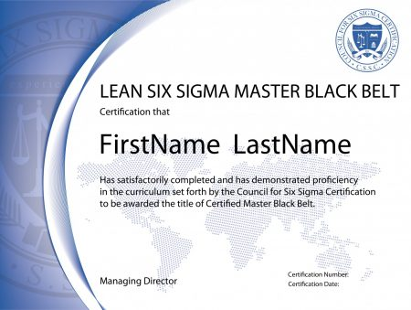 Lean Six Sigma Master Black Belt Certification