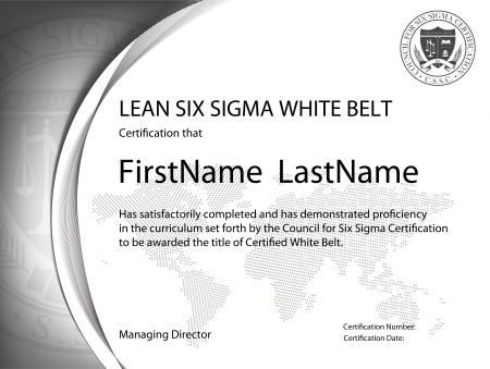 lean six sigma white belt (free), lean certification online