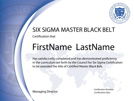 Six Sigma Master Black Belt Certification