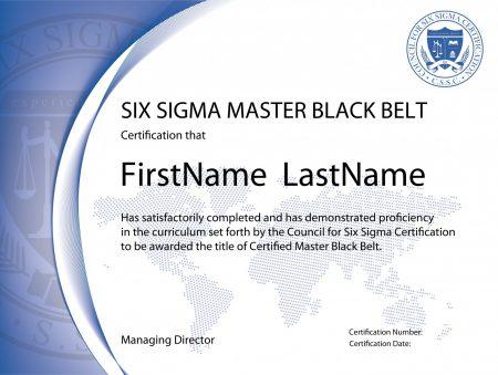 Six Sigma Master Black Belt Certification